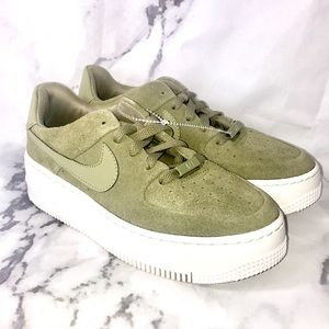 NEW Nike Air Force ones sage green low top